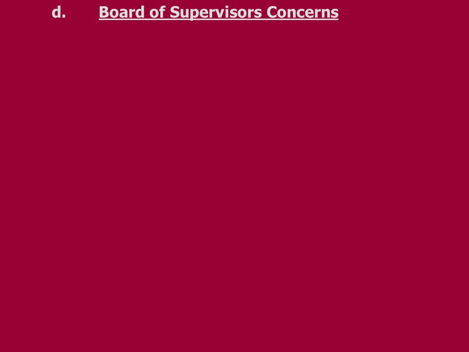d.Board of Supervisors Concerns