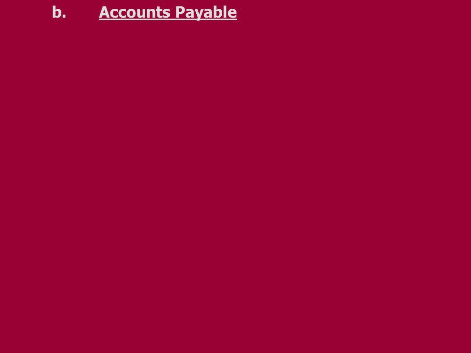 b.Accounts Payable