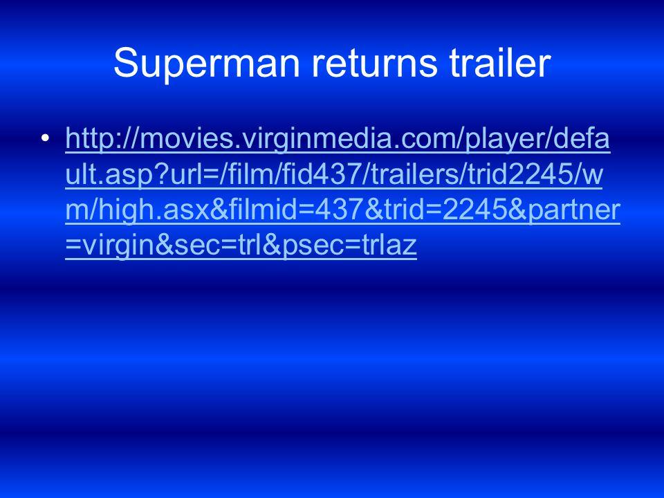 Gladiator trailer http://movies.virginmedia.com/player/defa ult.asp url=/film/fid42/trailers/trid43/wm/bb.asx&filmid=42&trid=43&partner=virgin&se c=trl&psec=trlazhttp://movies.virginmedia.com/player/defa ult.asp url=/film/fid42/trailers/trid43/wm/bb.asx&filmid=42&trid=43&partner=virgin&se c=trl&psec=trlaz