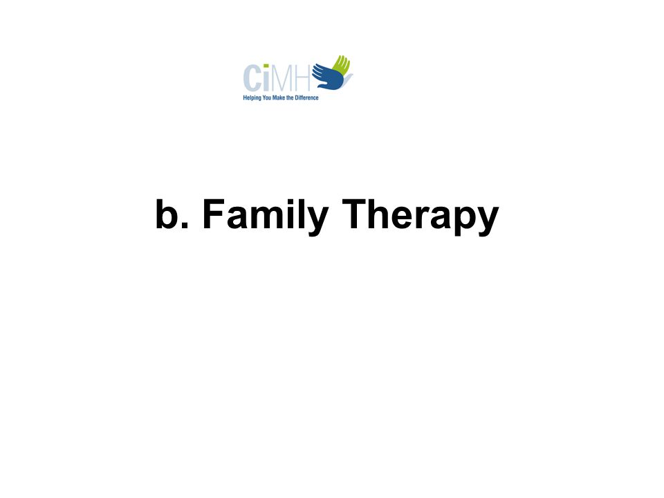 b. Family Therapy