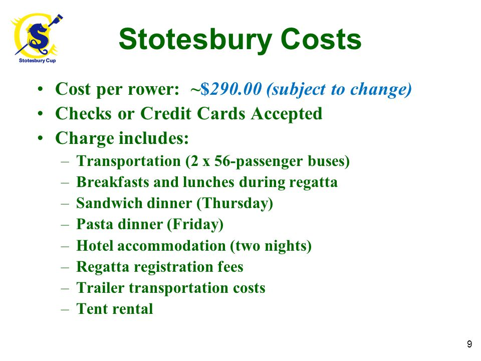 What to Pack for Stotesbury.