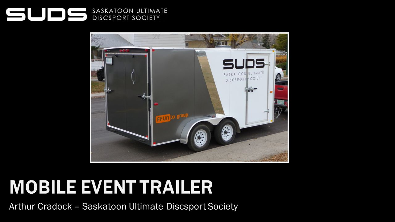Money…where the project began Saskatoon Ultimate The Need Budget and Funding Equipment Trailer Pics Outcome Other Uses Don't Forget… And Finally