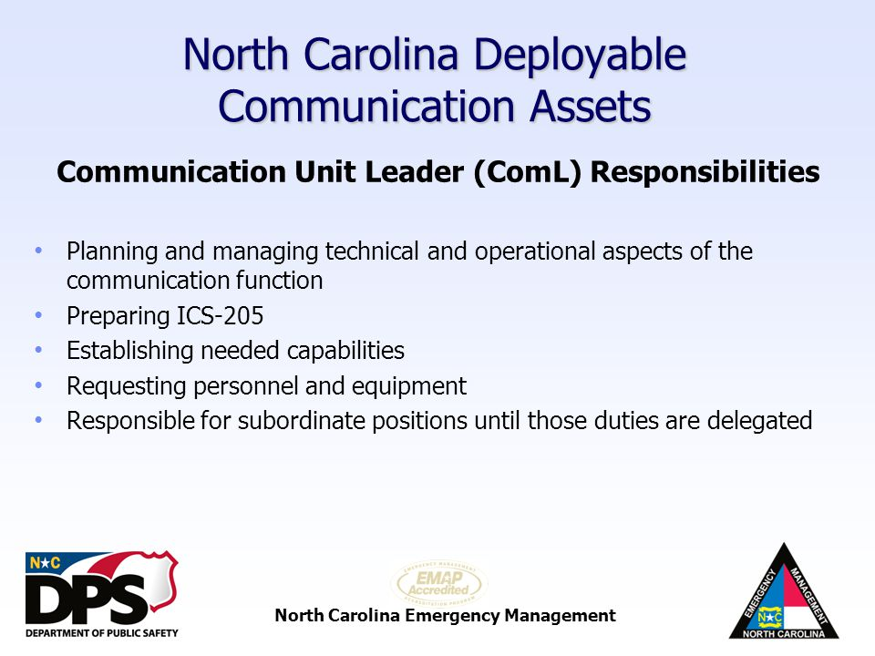 North Carolina Emergency Management North Carolina Deployable Communication Assets VIPER Mobile Towers