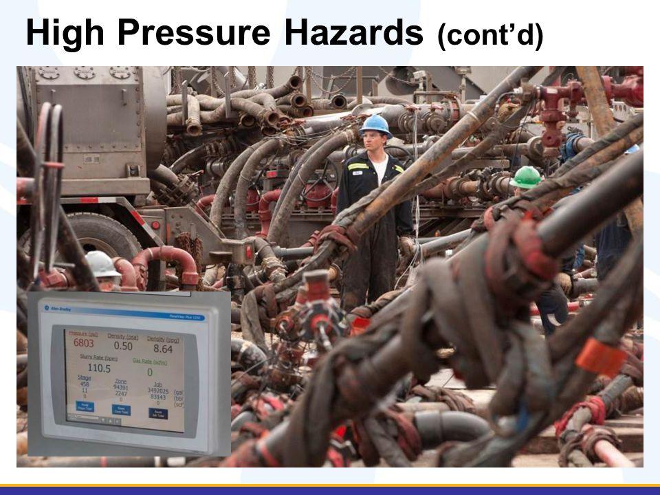 High Pressure Hazards (cont'd)