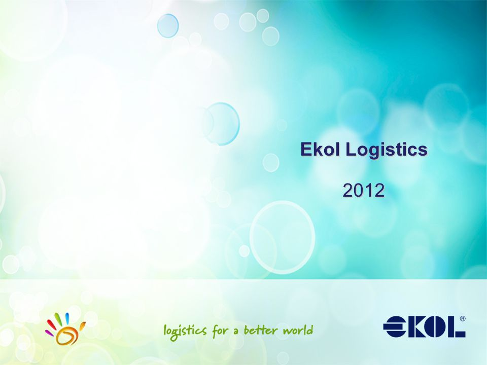 Agenda Ekol at a Glance Solutions Case Study in Transportation Case Study in Warehousing Technology