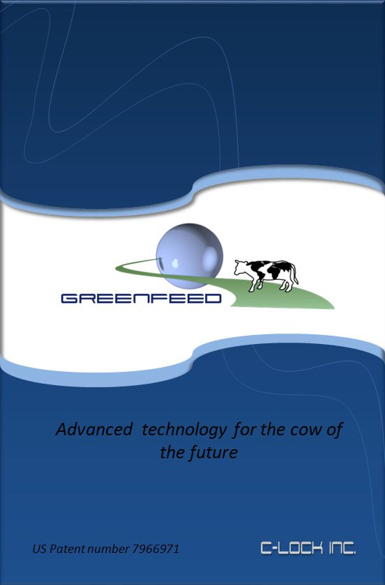 Advanced technology for the cow of the future US Patent number 7966971