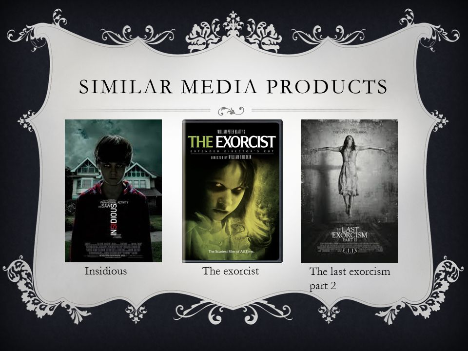 SIMILAR MEDIA PRODUCTS Insidious The exorcist The last exorcism part 2