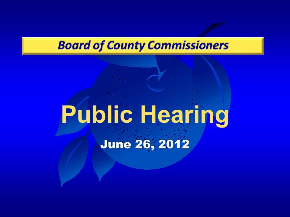 Public Hearing June 26, 2012