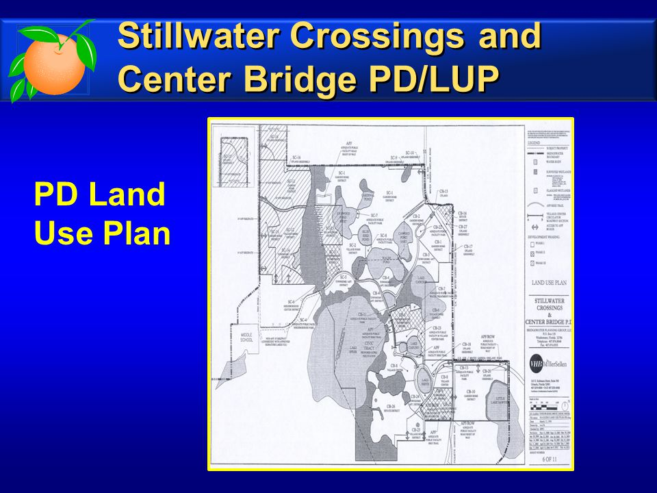 PD Land Use Plan Stillwater Crossings and Center Bridge PD/LUP