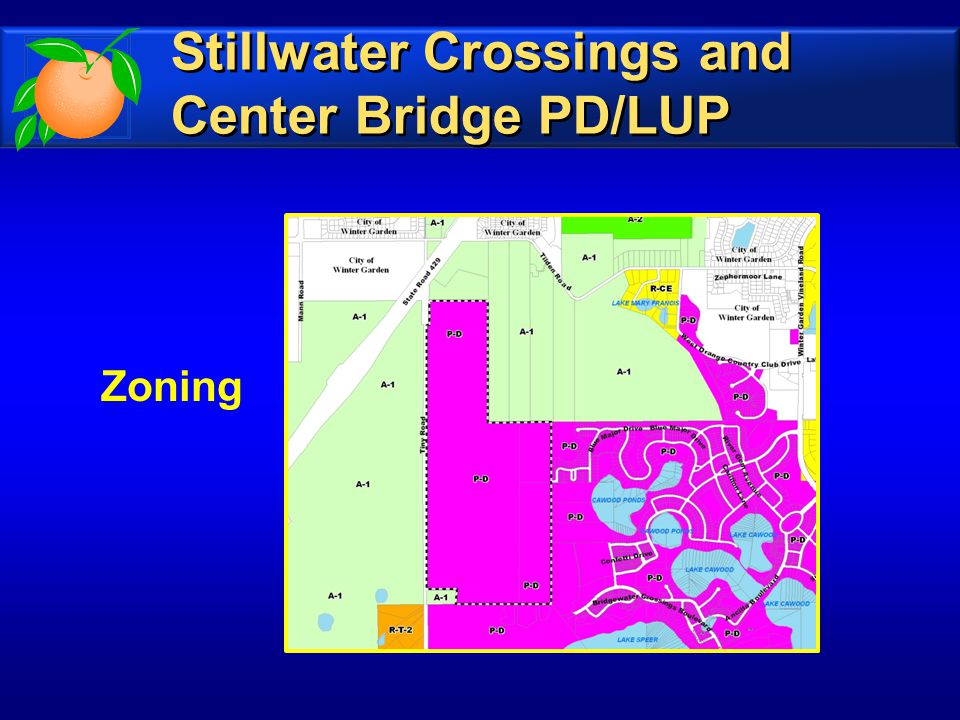 Zoning Stillwater Crossings and Center Bridge PD/LUP