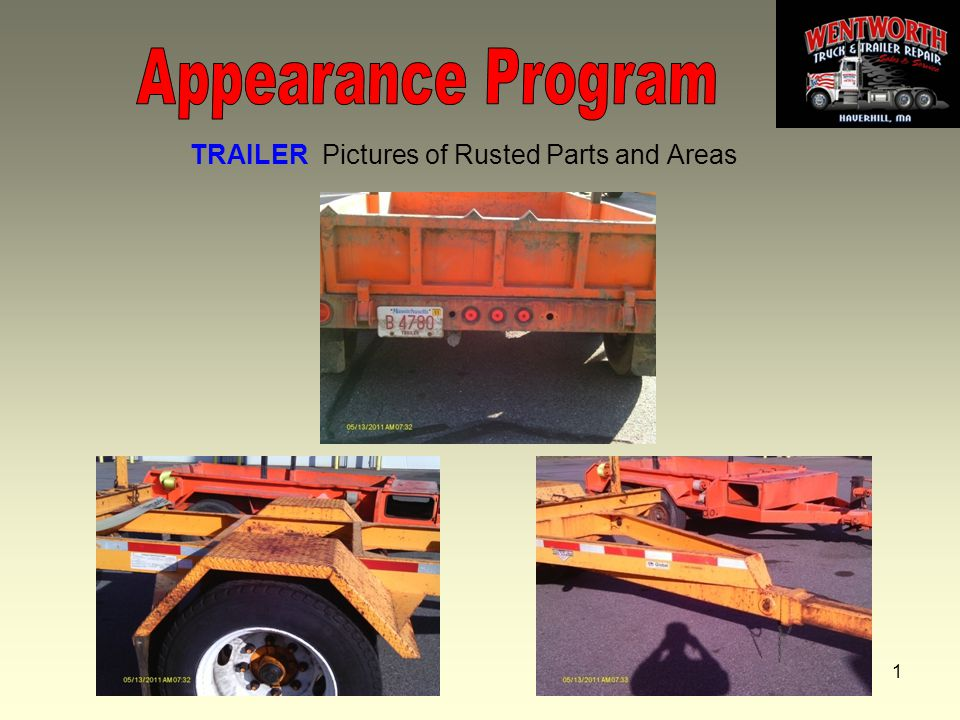 1 TRAILER Pictures of Rusted Parts and Areas
