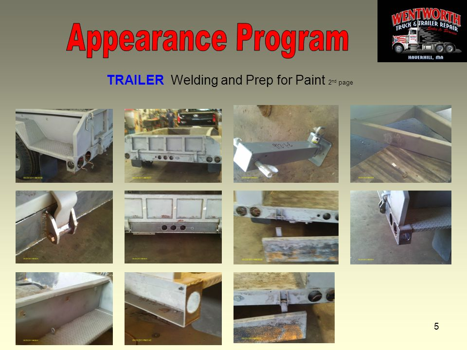5 TRAILER Welding and Prep for Paint 2 nd page
