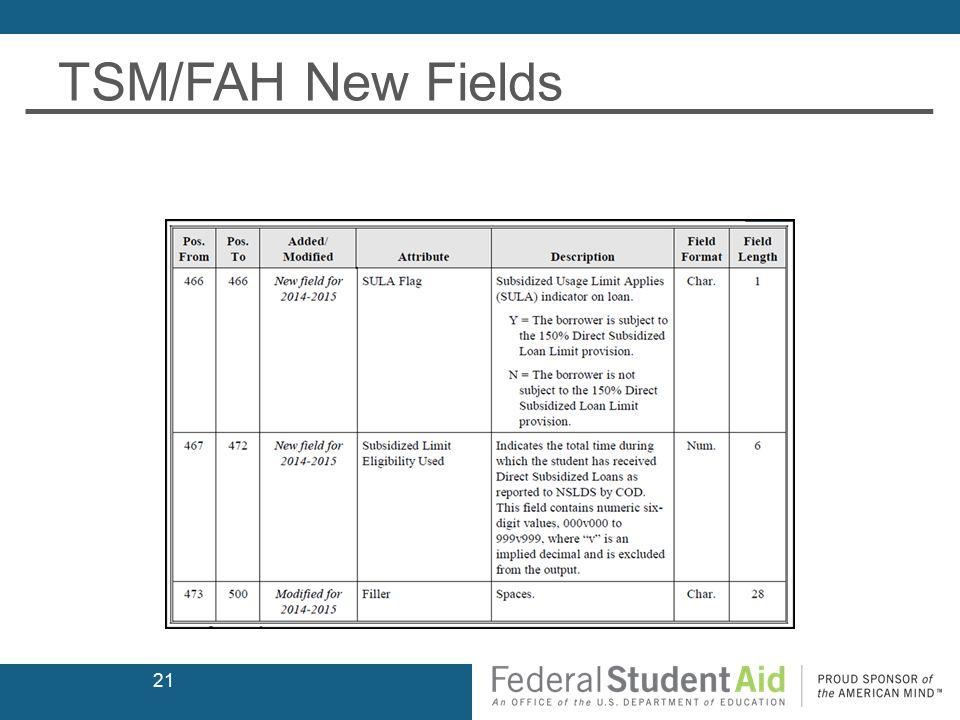 TSM/FAH New Fields 21