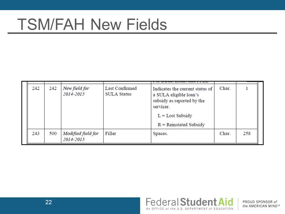 TSM/FAH New Fields 22