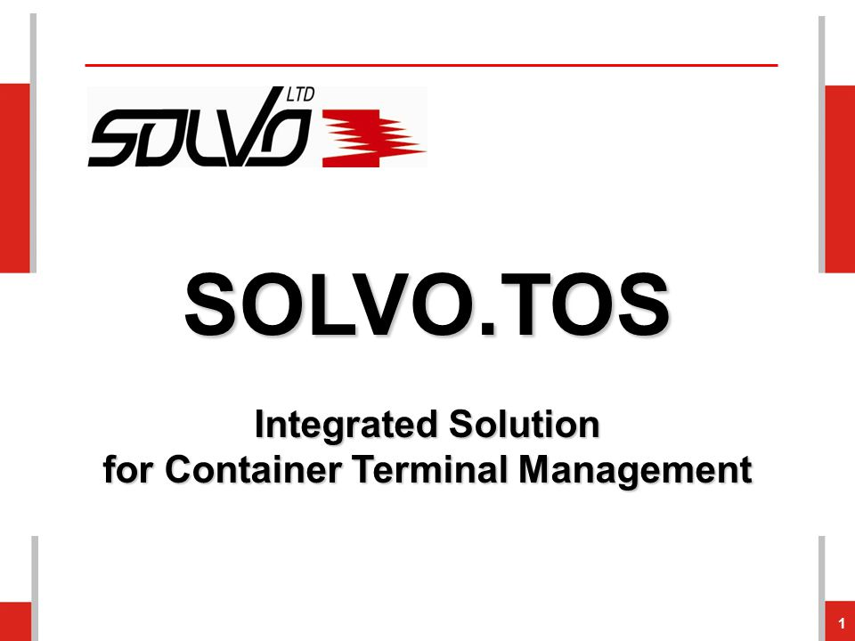 Web Portal 42 The container terminal's customers can send truck visits requests via SOLVO's web portal.