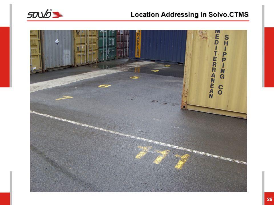 Location Addressing in Solvo.CTMS 26