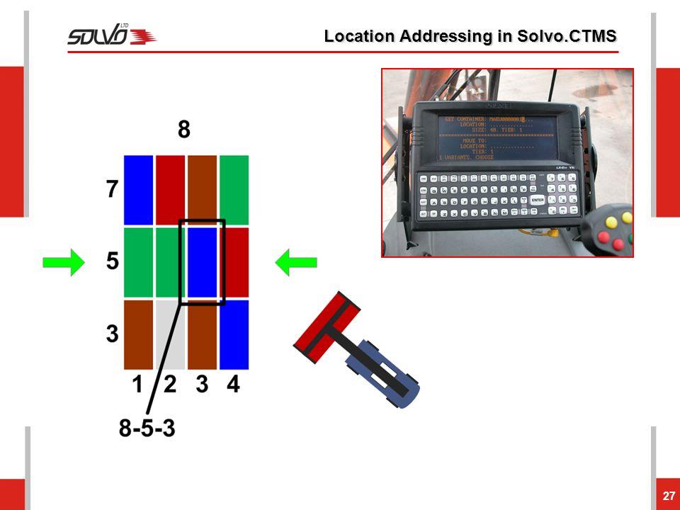 Location Addressing in Solvo.CTMS 27
