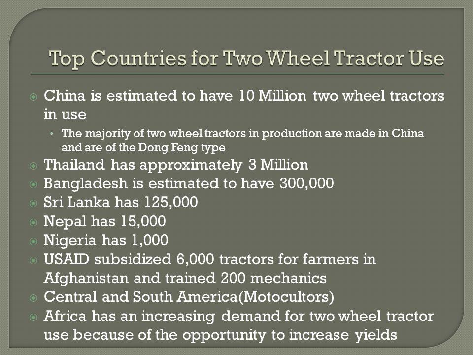  Land Preparation and Cultivation  Grain Drilling  Fertilizer application  Irrigation  Harvesting  Threshing  Farm to Market Transportation