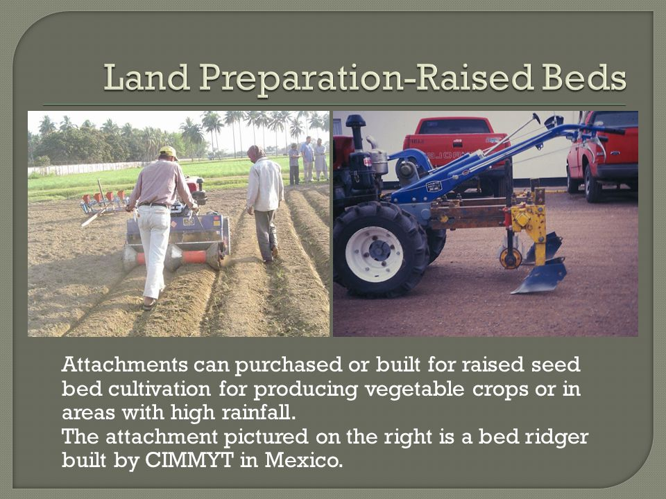 Two wheel tractors can also be used to cultivate paddy rice when steel wheels are attached.
