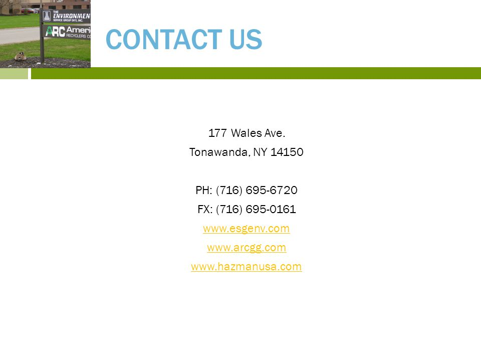 CONTACT US 177 Wales Ave.