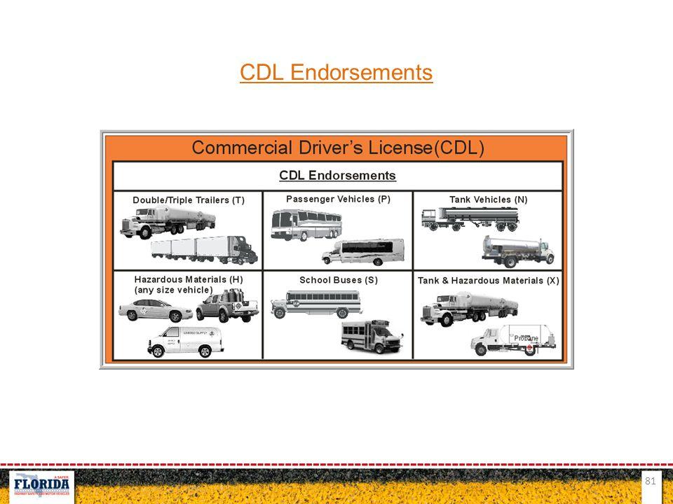 81 CDL Endorsements