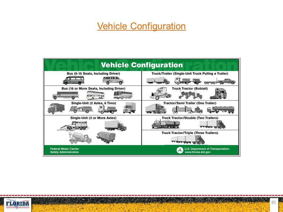 85 Vehicle Configuration