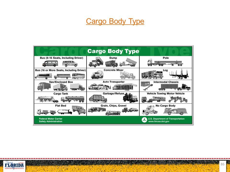 86 Cargo Body Type