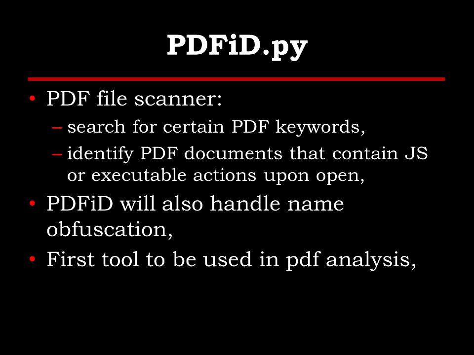 PDFiD.py – Clean File