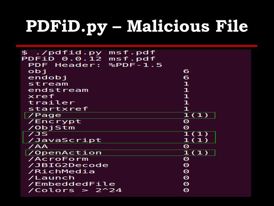 pdf-parser.py Parse a PDF document: identify fundamental elements used.