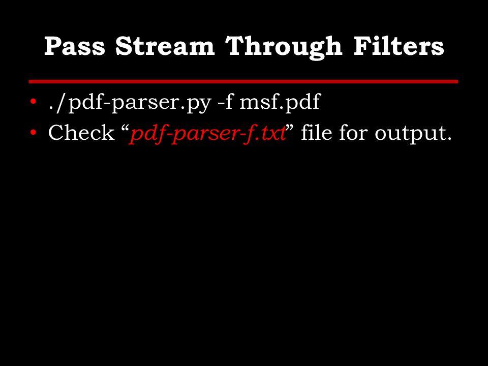 Other Tools Wepawet, http://wepawet.cs.ucsb.edu/ http://wepawet.cs.ucsb.edu/ Jsunpack, Generic JS Unpacker, – Pdf.py JavaScript Deobfuscator, Firefox Addon, https://addons.mozilla.org/en- us/firefox/addon/javascript-deobfuscator/, https://addons.mozilla.org/en- us/firefox/addon/javascript-deobfuscator/