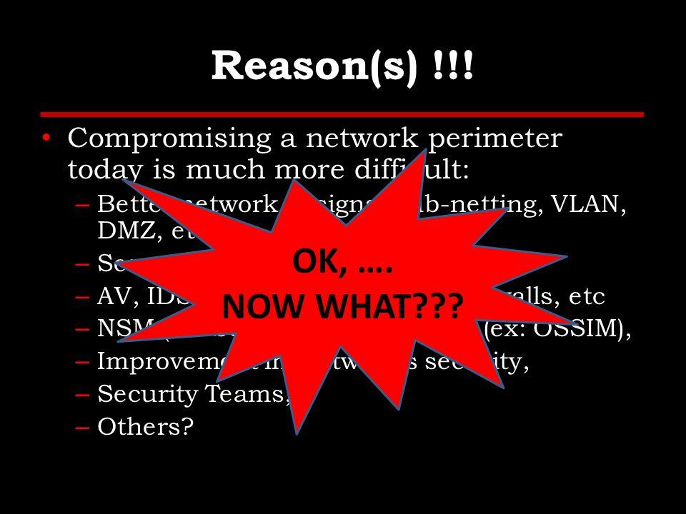 Reason(s) !!.