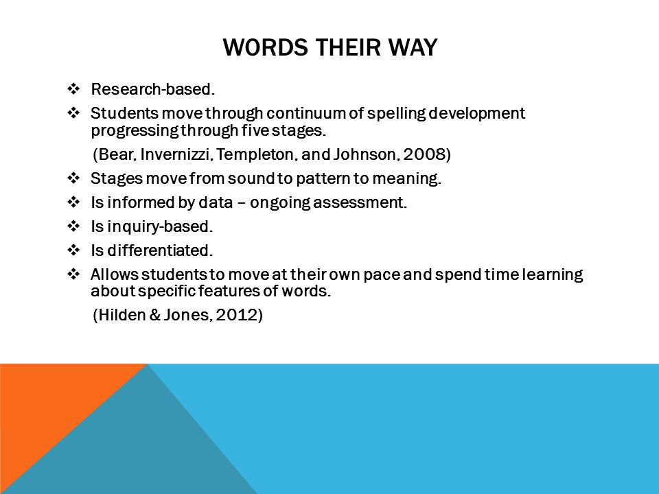 WORDS THEIR WAY  Research-based.