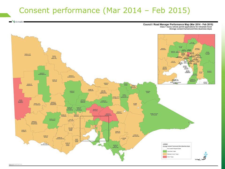 Consent performance (Mar 2014 – Feb 2015) 6