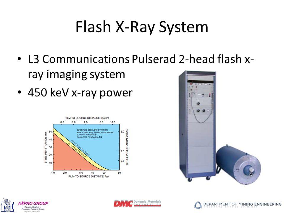 Flash X-Ray System L3 Communications Pulserad 2-head flash x- ray imaging system 450 keV x-ray power