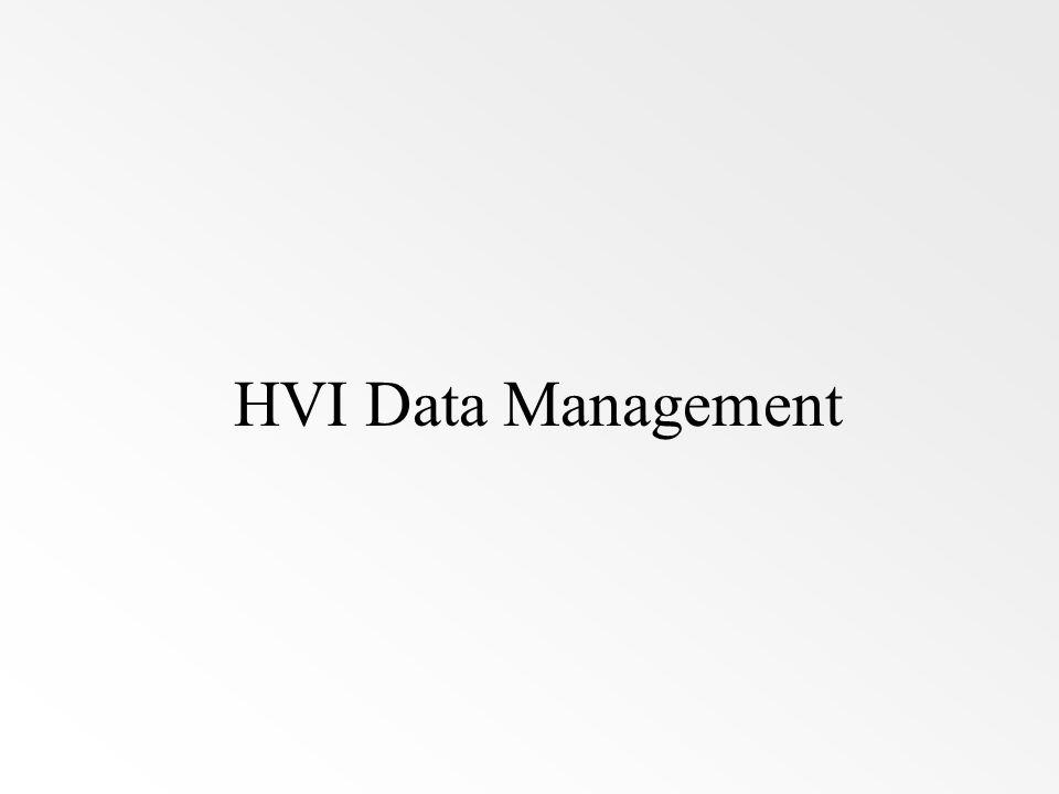 HVI Data Management