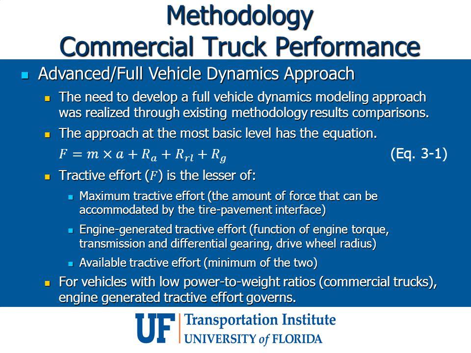 Methodology Commercial Truck Performance