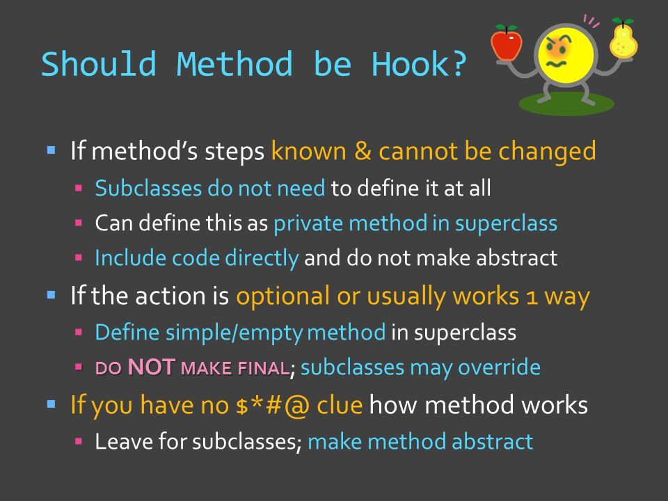 Should Method be Hook.