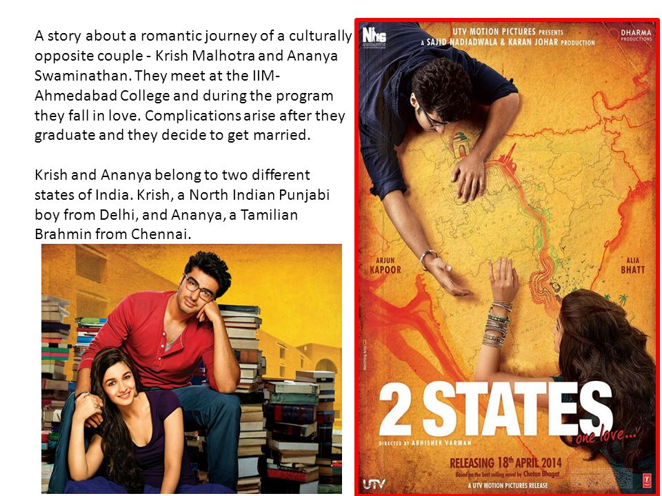 A story about a romantic journey of a culturally opposite couple - Krish Malhotra and Ananya Swaminathan.