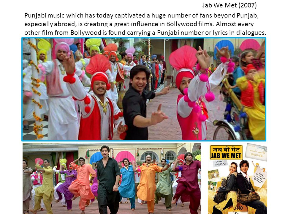 Punjabi music which has today captivated a huge number of fans beyond Punjab, especially abroad, is creating a great influence in Bollywood films.
