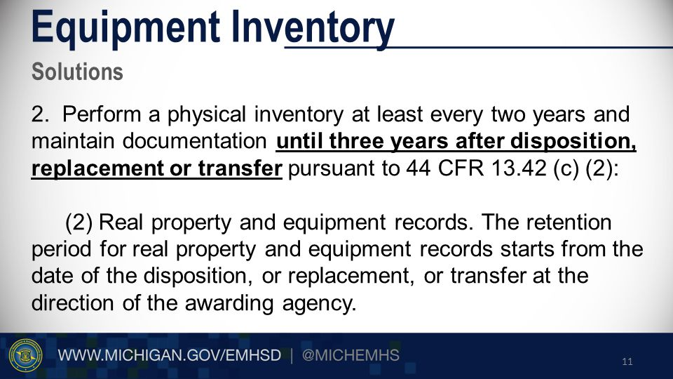 Solutions Equipment Inventory 2.