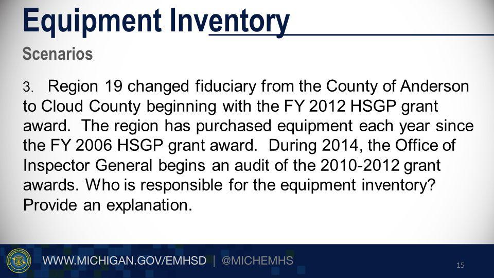 Scenarios Equipment Inventory 3.