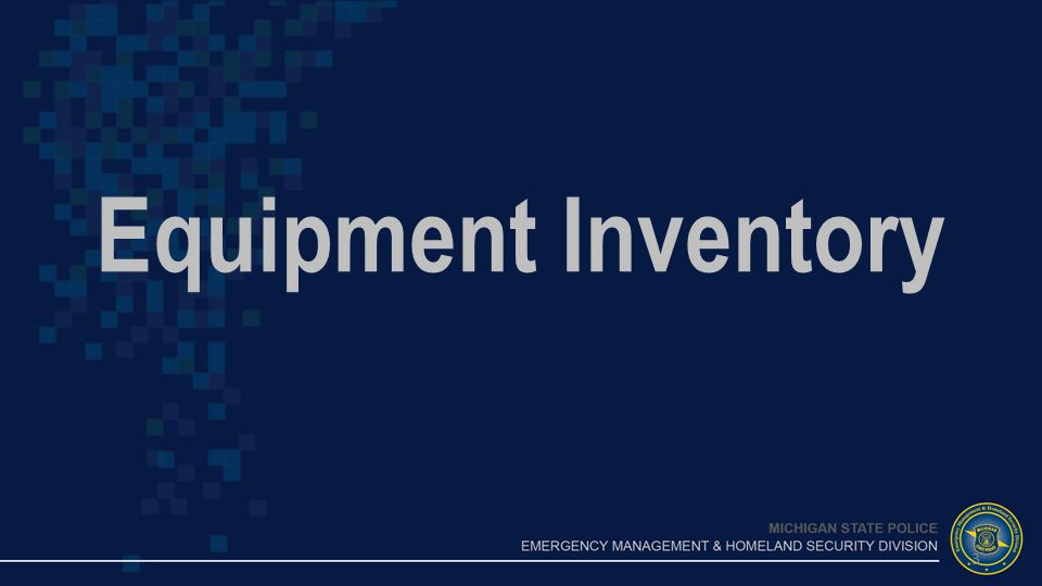 Equipment Inventory 3