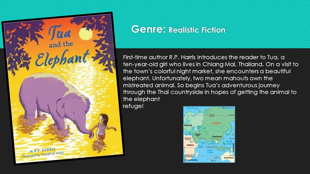 Genre: Realistic Fiction First ‐ time author R.P.