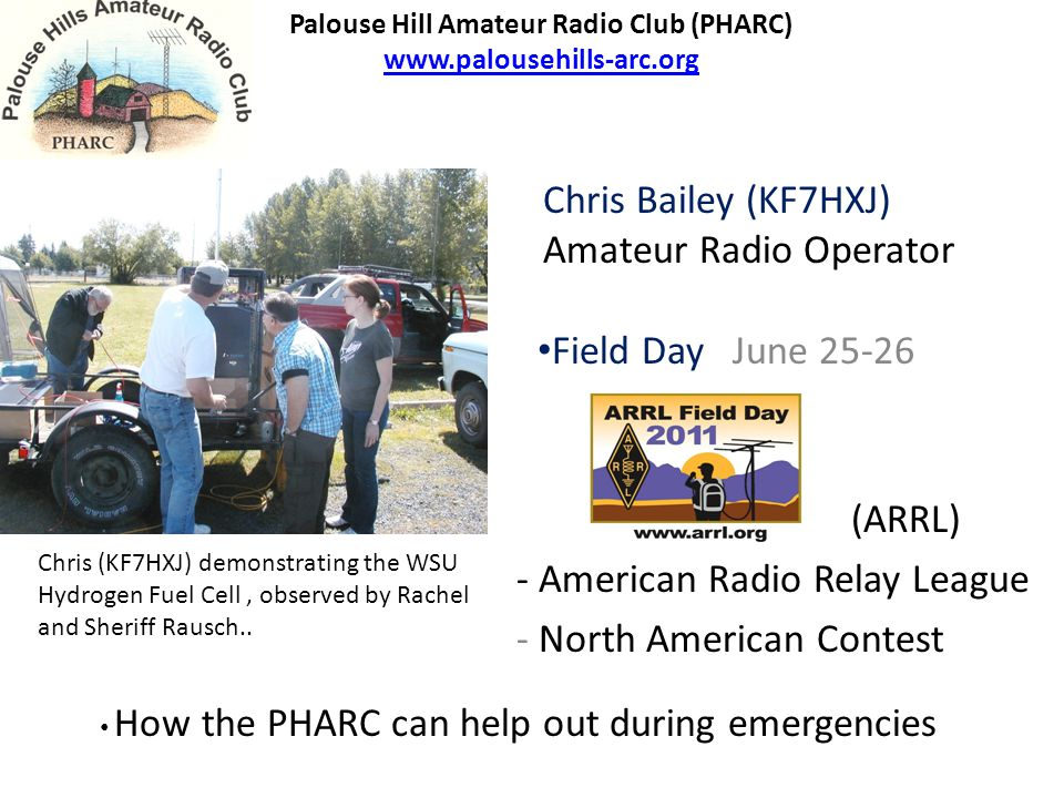 Amateur Radio operators (Hams) are FCC Licensed with emergency experience.