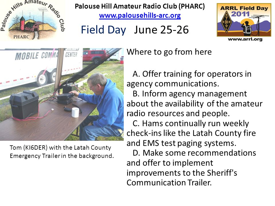 Where to go from here A. Offer training for operators in agency communications.
