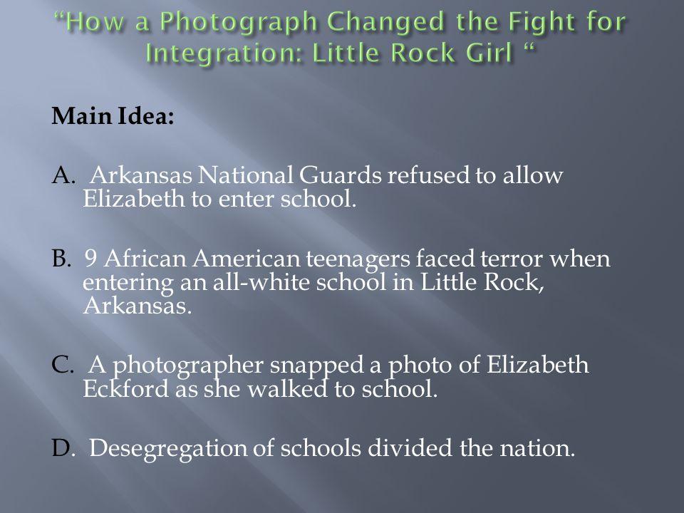 A. The photographer  B. Hazel C. Elizabeth D. Hazel and Elizabeth