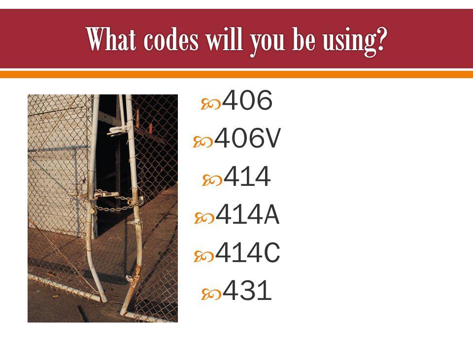  406  406V  414  414A  414C  431