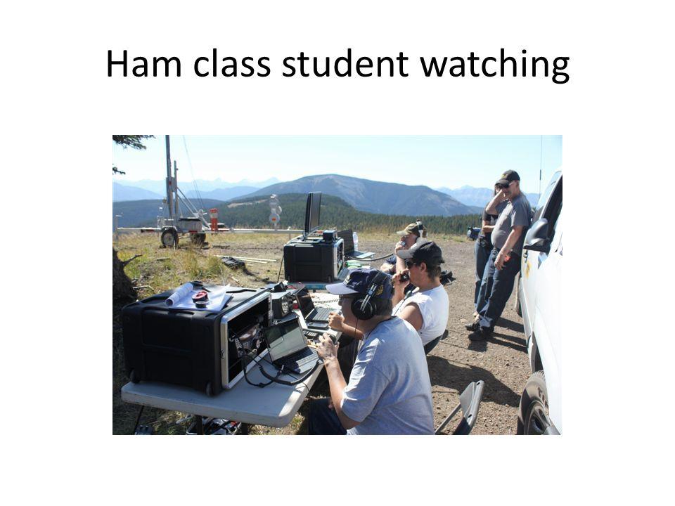 Ham class student watching
