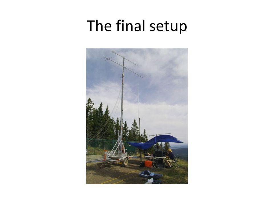 The final setup