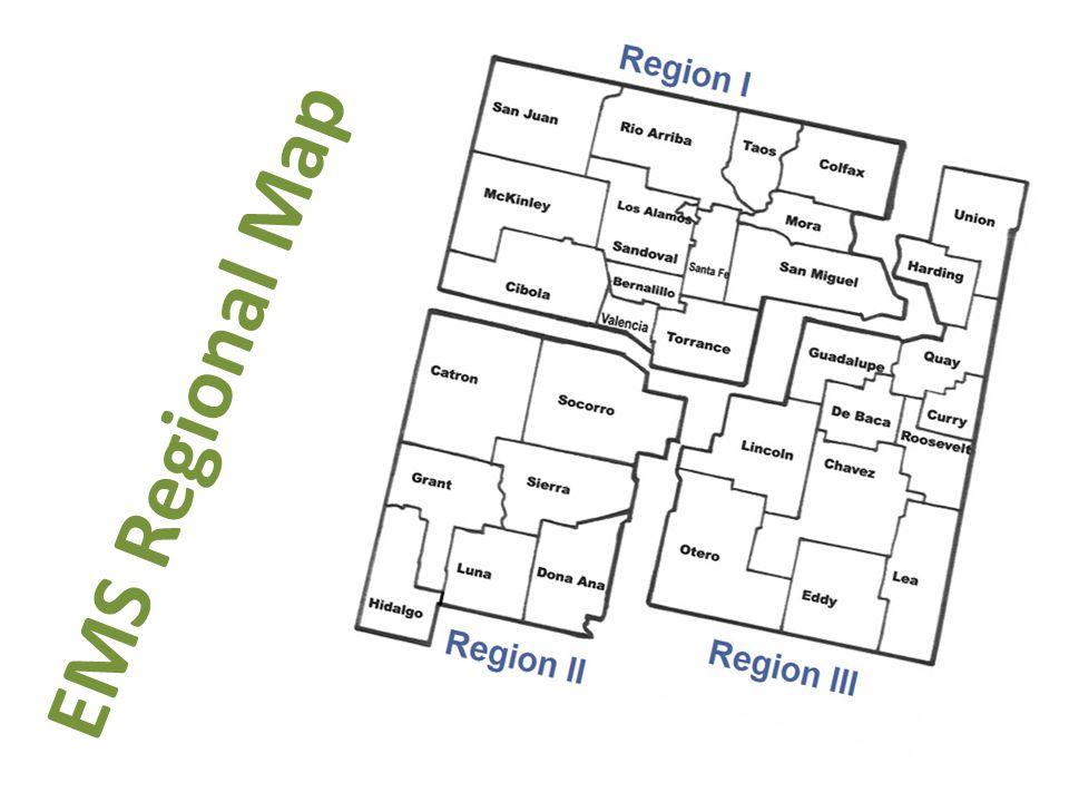 EMS Regional Map
